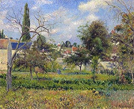 Kitchen Gardens, Pontoise | Pissarro | Painting Reproduction