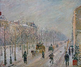 The Boulevards under Snow, 1879 von Pissarro | Gemälde-Reproduktion