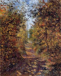 A Path in the Woods, Pontoise, 1879 von Pissarro | Gemälde-Reproduktion