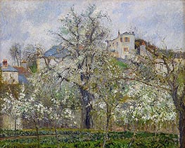 Kitchen Garden with Trees in Flower, Spring, 1877 von Pissarro | Gemälde-Reproduktion