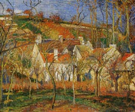 Red Roofs, Corner of a Village, Winter, 1877 von Pissarro | Gemälde-Reproduktion