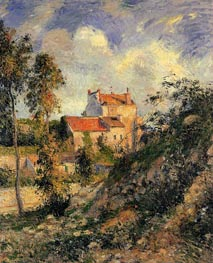 Les Mathurins, Pontoise, 1877 by Pissarro | Painting Reproduction