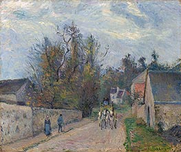 Diligence on the Road from Ennery to l'Hermitage | Pissarro | Gemälde Reproduktion