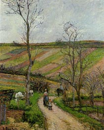 Route du Fond de l'Hermitage, Pontoise, 1877 by Pissarro | Painting Reproduction