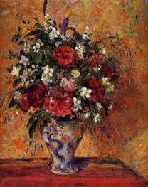 Vase of Flowers, c.1877/78 by Pissarro | Painting Reproduction
