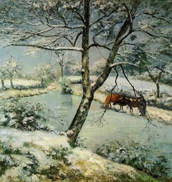 Winter at Montvoucault (The Effect of Snow) | Pissarro | Painting Reproduction
