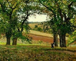 Chestnut Trees at Osny, 1873 by Pissarro | Painting Reproduction