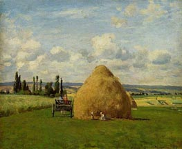 The Haystack, Pontoise, 1873 by Pissarro | Painting Reproduction