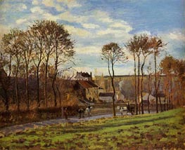 Pontoise, Les Mathurins (Former Convent), 1873 by Pissarro | Painting Reproduction