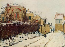 Rue de la Citadelle, Pontoise, 1873 by Pissarro | Painting Reproduction