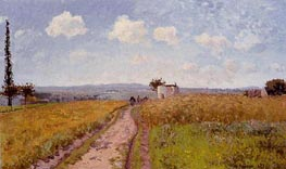 June Morning, View over the Hills of Pontoise, 1873 von Pissarro | Gemälde-Reproduktion