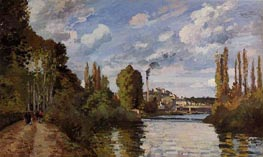 Riverbanks in Pontoise | Pissarro | Gemälde Reproduktion