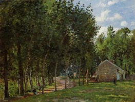 The House in the Forest, 1872 by Pissarro | Painting Reproduction