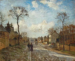 A Road in Louveciennes, 1872 by Pissarro | Painting Reproduction