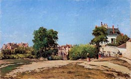 The Crossroads, Pontoise (Place du Vieus Cimitiere, 1872 by Pissarro | Painting Reproduction