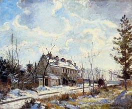 Louveciennes Road, The Effect of Snow, 1872 von Pissarro | Gemälde-Reproduktion