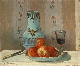 Still Life with Apples and Pitcher, 1872 von Pissarro | Gemälde-Reproduktion