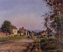 Outskirts of Louveciennes, the Road, 1871 von Pissarro | Gemälde-Reproduktion