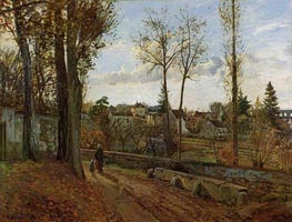 Louveciennes, 1871 by Pissarro | Painting Reproduction
