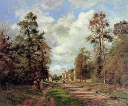 The Road to Louveciennes (Outskirts of the Forest), 1871 von Pissarro | Gemälde-Reproduktion