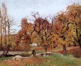 Autumn Landscape, near Louveciennes, c.1871/72 by Pissarro | Painting Reproduction