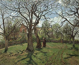 Chestnut Trees at Louveciennes, Spring, 1870 von Pissarro | Gemälde-Reproduktion