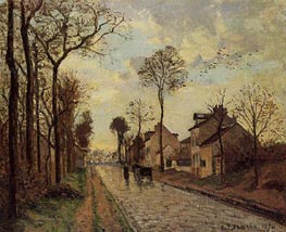 The Louveciennes Road | Pissarro | Gemälde Reproduktion