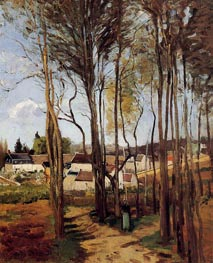 A Village Through the Trees | Pissarro | Painting Reproduction