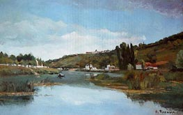 The Banks of the Marne at Chennevieres | Pissarro | Gemälde Reproduktion
