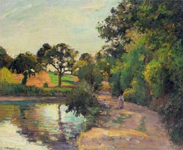 Pond at Montfoucault (Mayenne) | Pissarro | Painting Reproduction