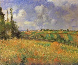 Rye Fields at Pontoise, 1877 by Pissarro | Painting Reproduction