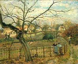 The Fence | Pissarro | Painting Reproduction