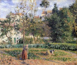 Vegetable Garden at the Hermitage near Pontoise | Pissarro | Painting Reproduction