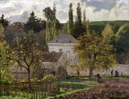 House in the Hermitage, Pontoise | Pissarro | Painting Reproduction