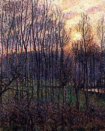 Sunset at Eragny, 1894 by Pissarro | Painting Reproduction