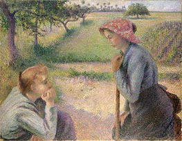 Two Young Peasant Women | Pissarro | Painting Reproduction
