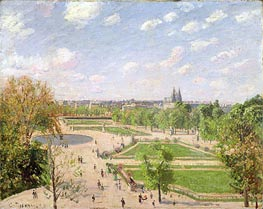 The Garden of the Tuileries on a Spring Morning, 1899 von Pissarro | Gemälde-Reproduktion