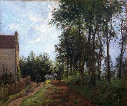 The Road Near the Farm, 1871 by Pissarro | Painting Reproduction