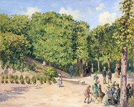 Town Park in Pontoise, 1873 by Pissarro | Painting Reproduction