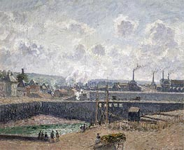 Low Tide at Duquesne Docks, Dieppe, 1902 by Pissarro | Painting Reproduction