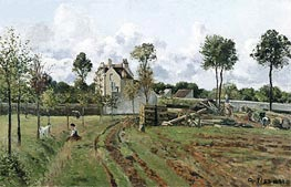 Pontoise Landscape, c.1872 by Pissarro | Painting Reproduction