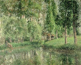 The Wash-House at Bazincourt, 1900 by Pissarro | Painting Reproduction
