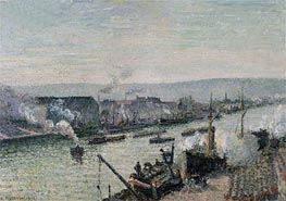 Saint-Sever Port, Rouen, 1896 by Pissarro | Painting Reproduction