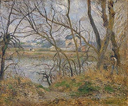 The Banks of the Oise, near Pontoise, Cloudy Weather, 1878 von Pissarro | Gemälde-Reproduktion
