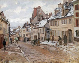 Pontoise, the Road to Gisors in Winter, 1873 von Pissarro | Gemälde-Reproduktion