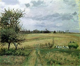 Landscape at Pontoise, 1872 by Pissarro   Painting Reproduction