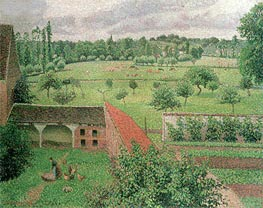 View from my Window, Eragny-sur-Epte, 1888 by Pissarro   Painting Reproduction