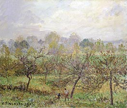 Autumn, Morning Mist, Eragny-sur-Epte, 1902 by Pissarro   Painting Reproduction