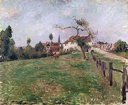 The Village of Eragny, 1885 by Pissarro   Painting Reproduction