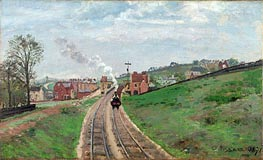 Lordship Lane Station, Dulwich, 1871 by Pissarro   Painting Reproduction